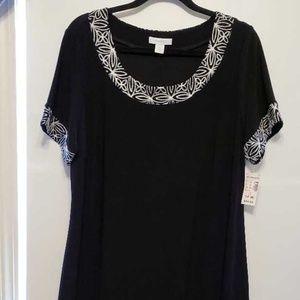 Women's Dress Barn Black Dress Size 14W NWT